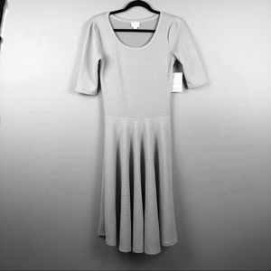 NWT LulaRoe Nicole Dress Light Grey Small